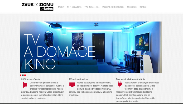 Printscreen of website zvukdodomu.eu